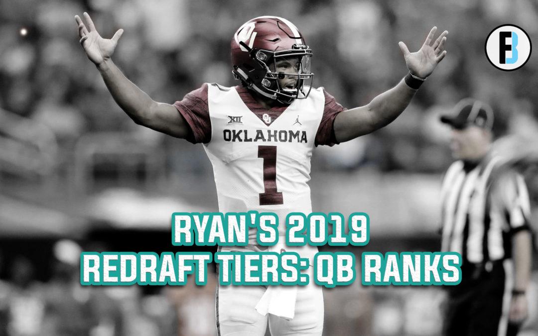 2019 Redraft Rankings: QB Tiers