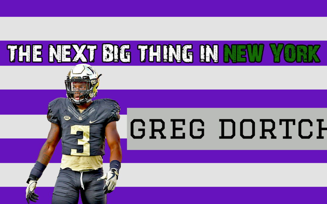 The next BIG thing in New York, Greg Dortch.